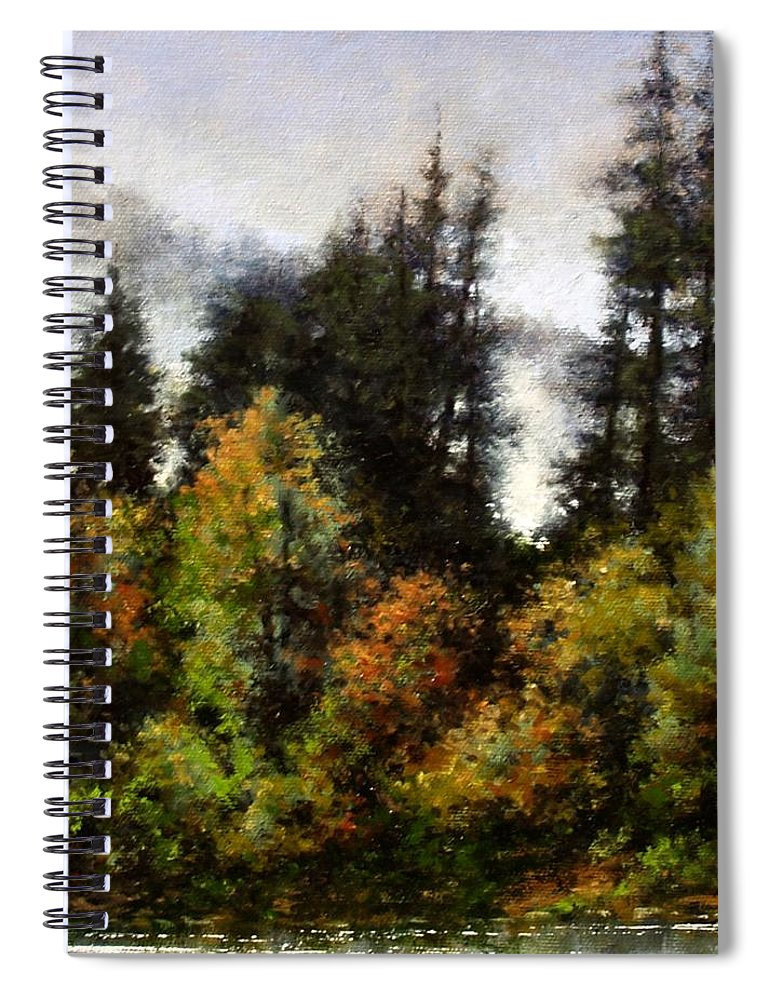 Painting Spiral Notebook featuring the painting Woodland Bottoms In April by Jim Gola