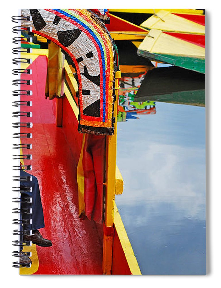 Skip Hunt Spiral Notebook featuring the photograph Xochimilco by Skip Hunt
