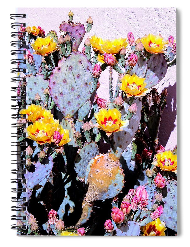 March Spiral Notebook featuring the photograph Yellow And Red Flower by M Diane Bonaparte
