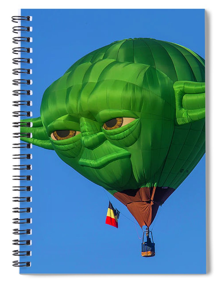 Hot Air Balloon Spiral Notebook featuring the photograph Yoda Hot Air  Balloon by Garry Gay