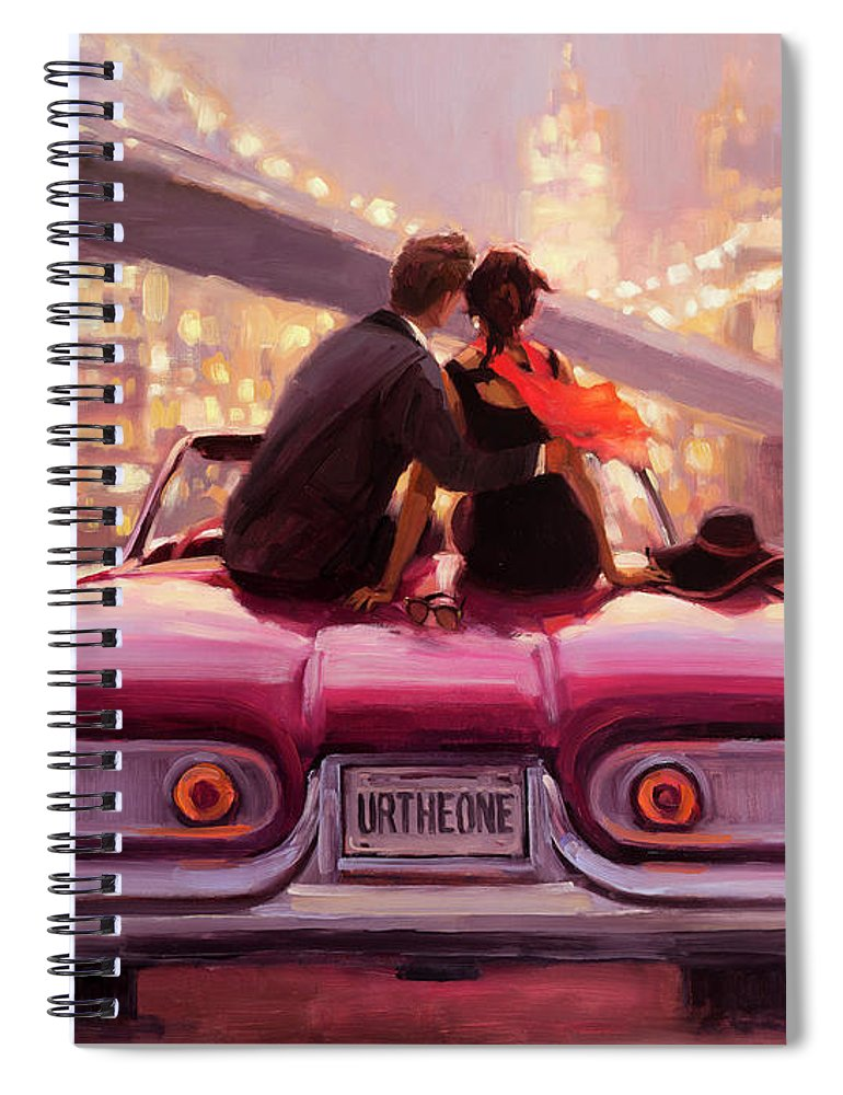 Love Spiral Notebook featuring the painting You Are the One by Steve Henderson
