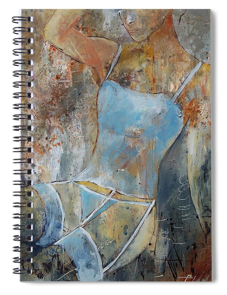 Nude Spiral Notebook featuring the painting Young Girl 451108 by Pol Ledent