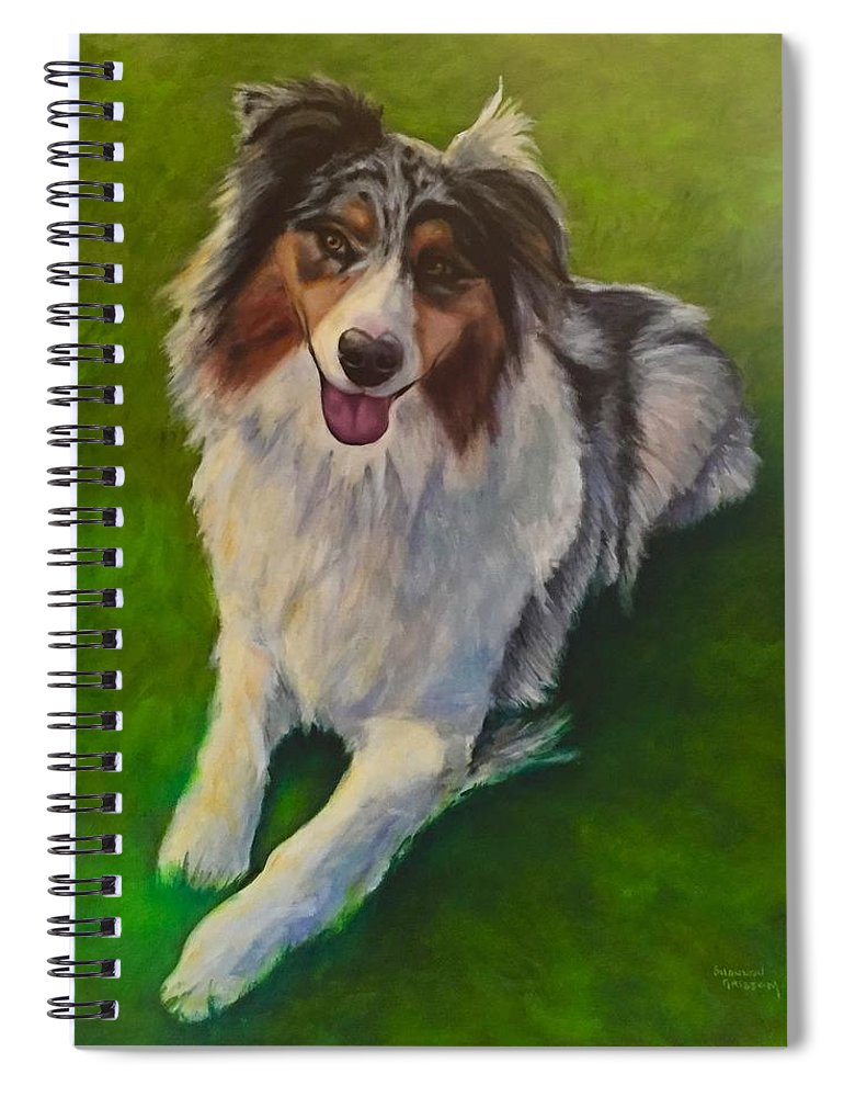 Yuki Spiral Notebook featuring the painting Yuki by Shannon Grissom
