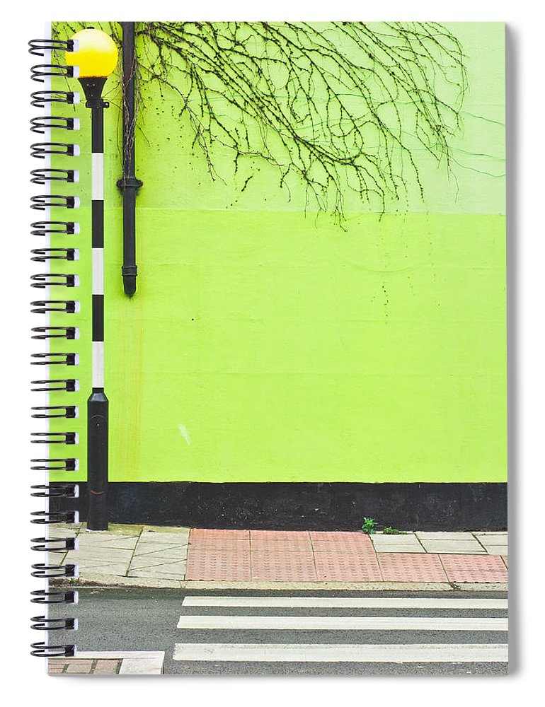 Architectural Spiral Notebook featuring the photograph Zebra Crossing by Tom Gowanlock