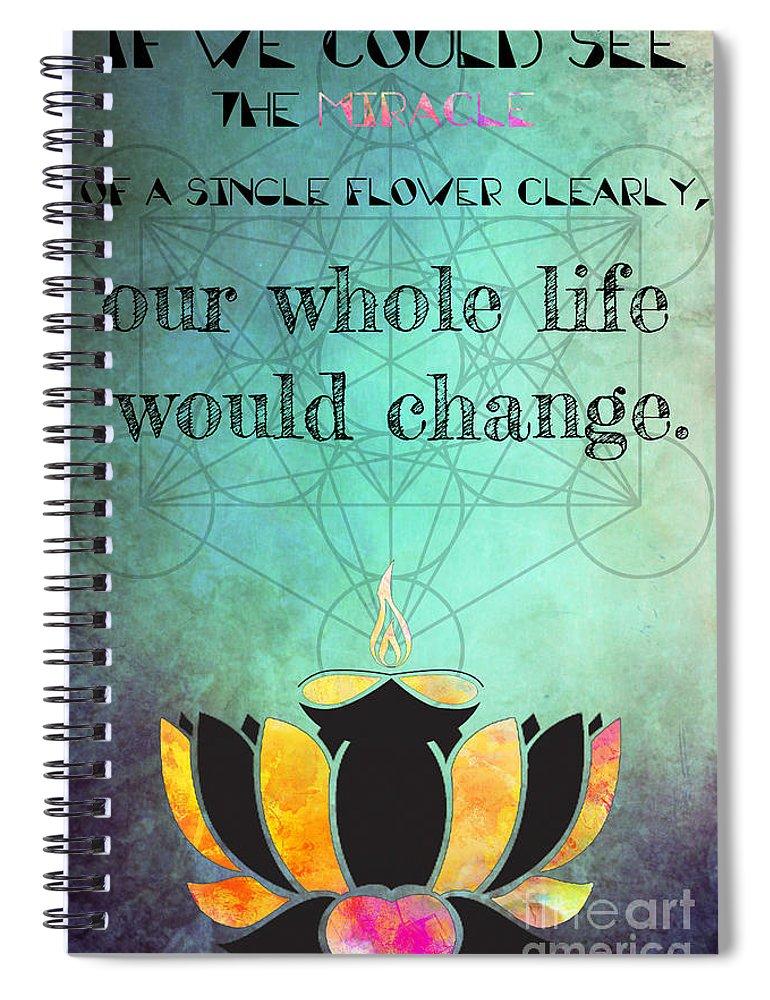 Zen Art Inspirational Buddha Quotes Happiness Life Spiral Notebook