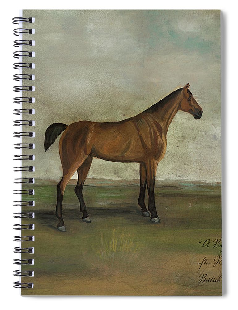 Animals Spiral Notebook featuring the painting A Bay Hunter by Naomi Mccavitt