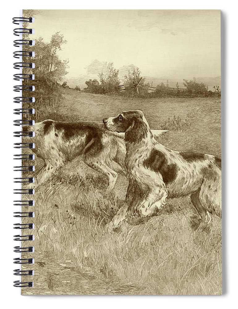 Sporting Spiral Notebook featuring the painting A Thrilling Moment by E.h. Osthaus