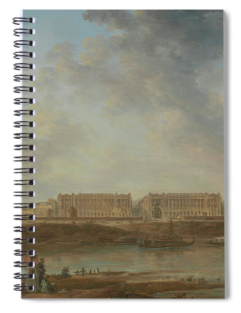 Alexandre-jean Noël Spiral Notebook featuring the painting A View Of Place Louis Xv by Alexandre-Jean Noel