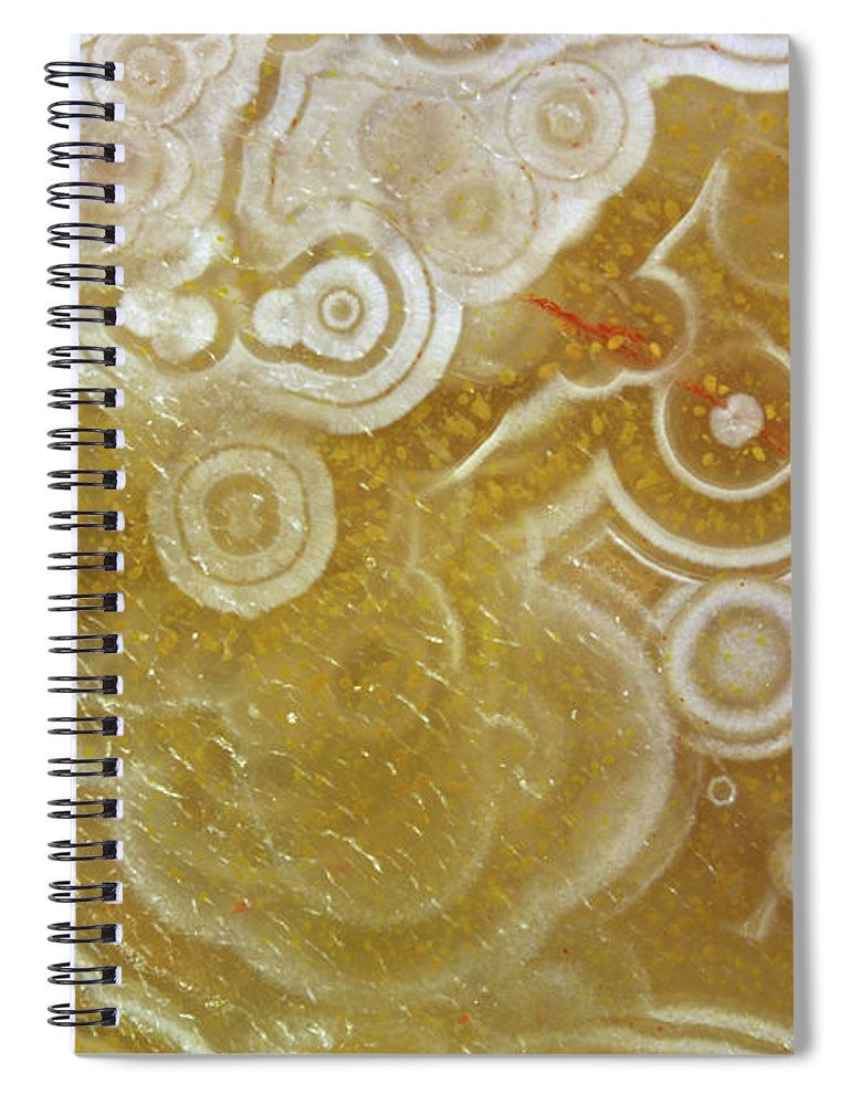 Mineral Spiral Notebook featuring the photograph Agate by Matteo Chinellato - Chinellatophoto