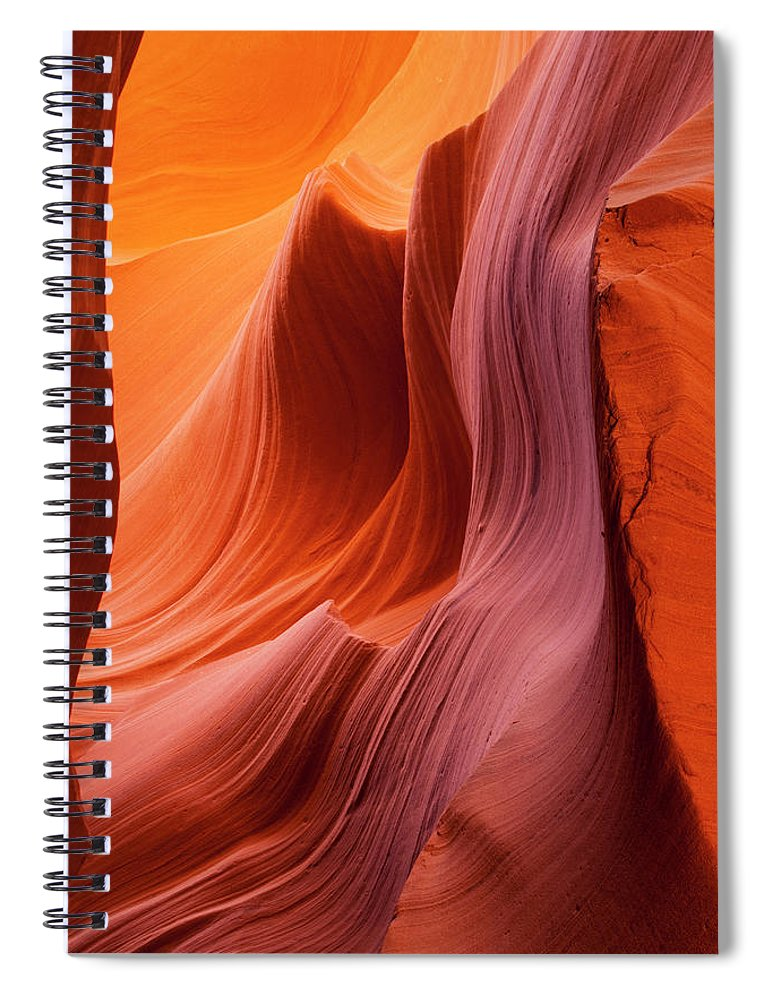 Tranquility Spiral Notebook featuring the photograph Antelope Canyon, Page, Arizona by Paul Souders