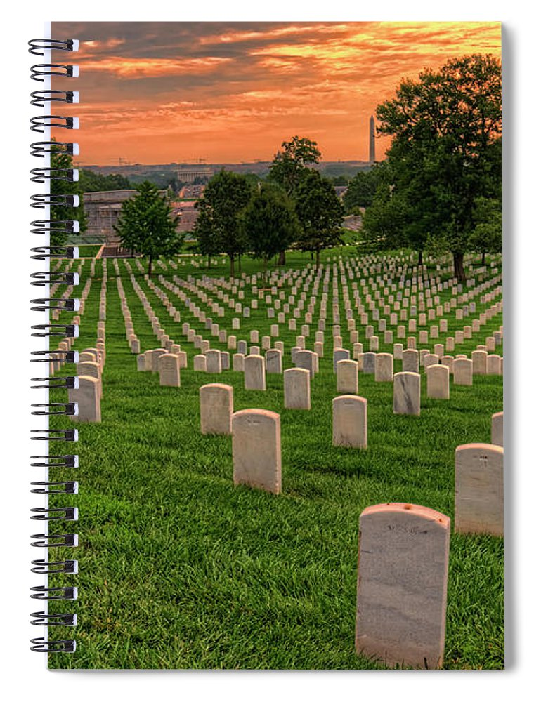 Craig Fildes Photography Spiral Notebook featuring the photograph Arlington National Cemetery Sunrise by Craig Fildes