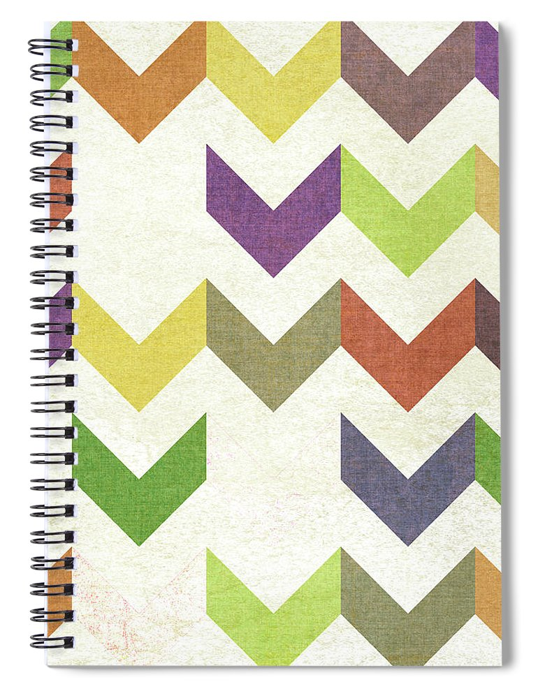 Abstract Spiral Notebook featuring the painting Arrow Pattern II by Jarman Fagalde