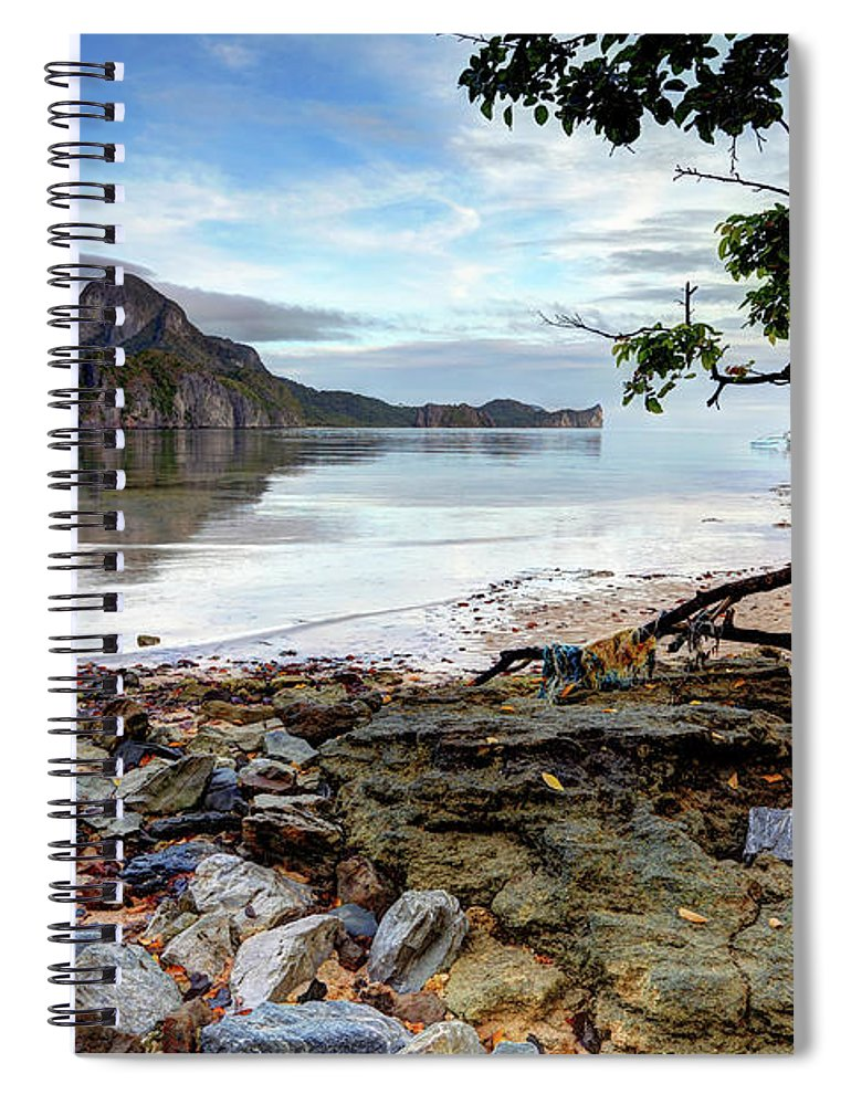 Water's Edge Spiral Notebook featuring the photograph Beautiful El Nido Landscape by Vuk8691