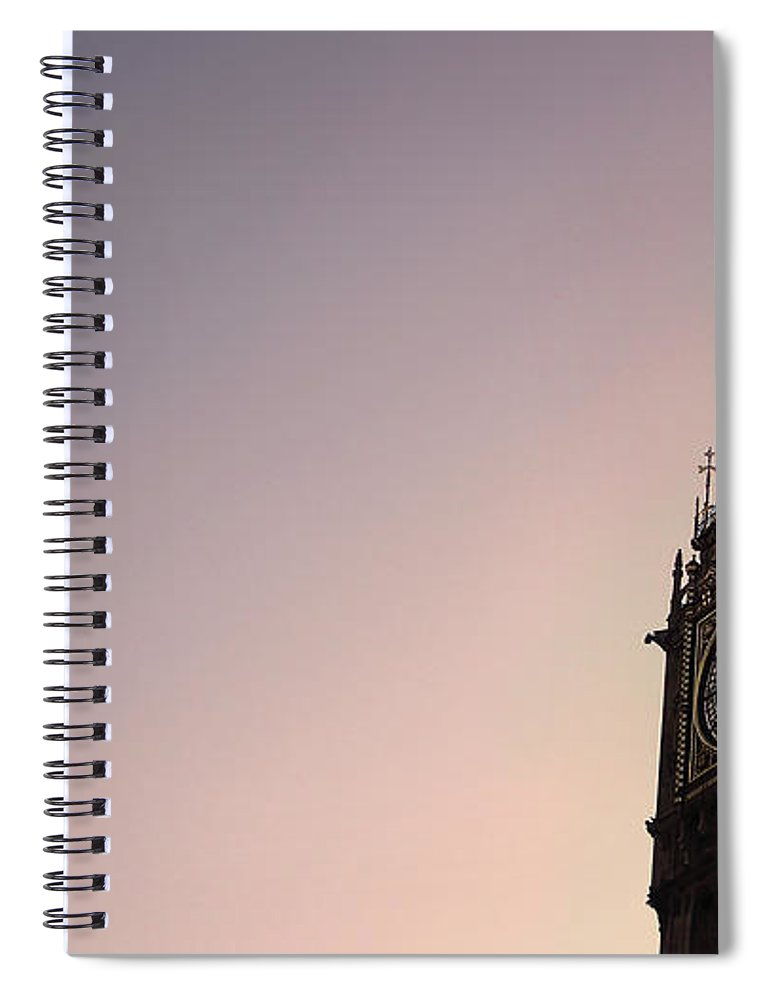Clock Tower Spiral Notebook featuring the photograph Big Ben Clock Tower by Sherif A. Wagih (s.wagih@hotmail.com)