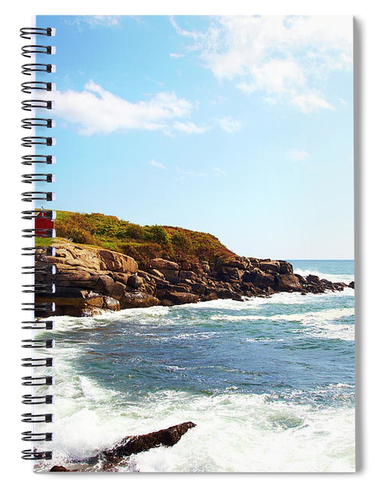 Scenics Spiral Notebook featuring the photograph Cape Neddick Nubble Lighthouse by Thomas Northcut