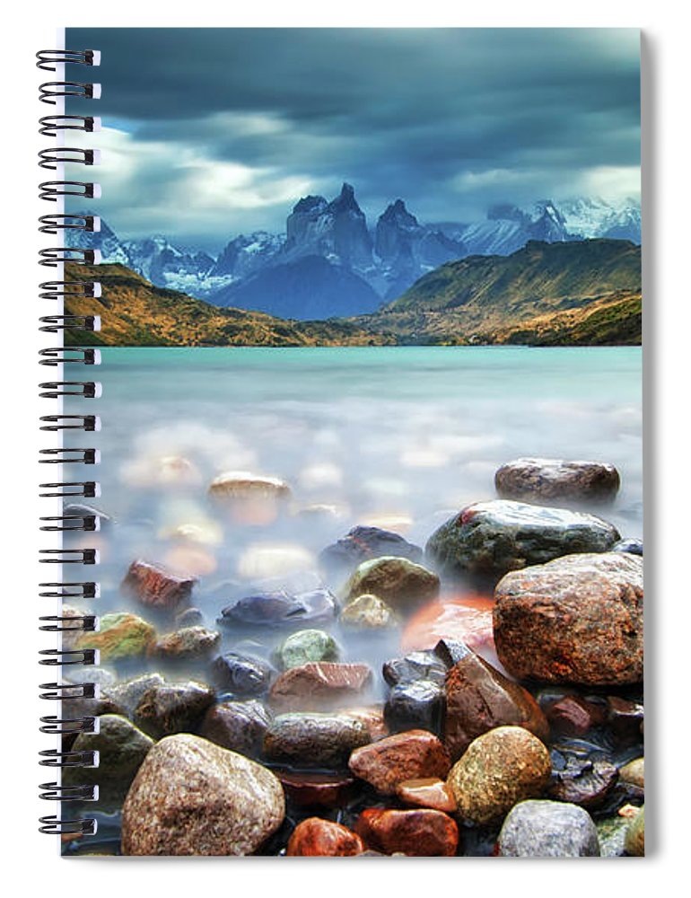 Scenics Spiral Notebook featuring the photograph Cuernos Del Paine by Thienthongthai Worachat