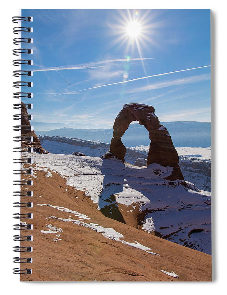 Delicate Arch Spiral Notebook featuring the photograph Delicate Arch by Robert VanDerWal