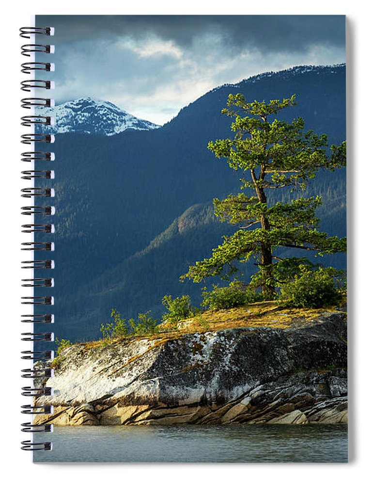 Scenics Spiral Notebook featuring the photograph Desolation Sound, Bc, Canada by Paul Souders