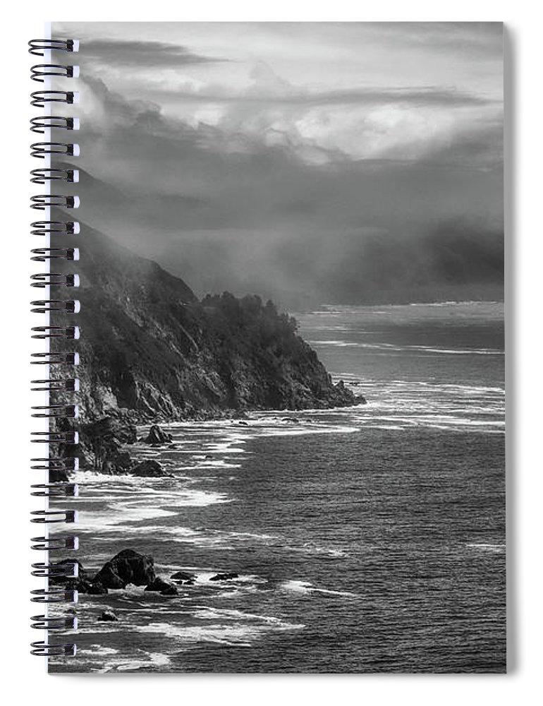 Big Sur Spiral Notebook featuring the photograph Early Morning Fog Over Big Sur by U S F W S Ashley Spratt