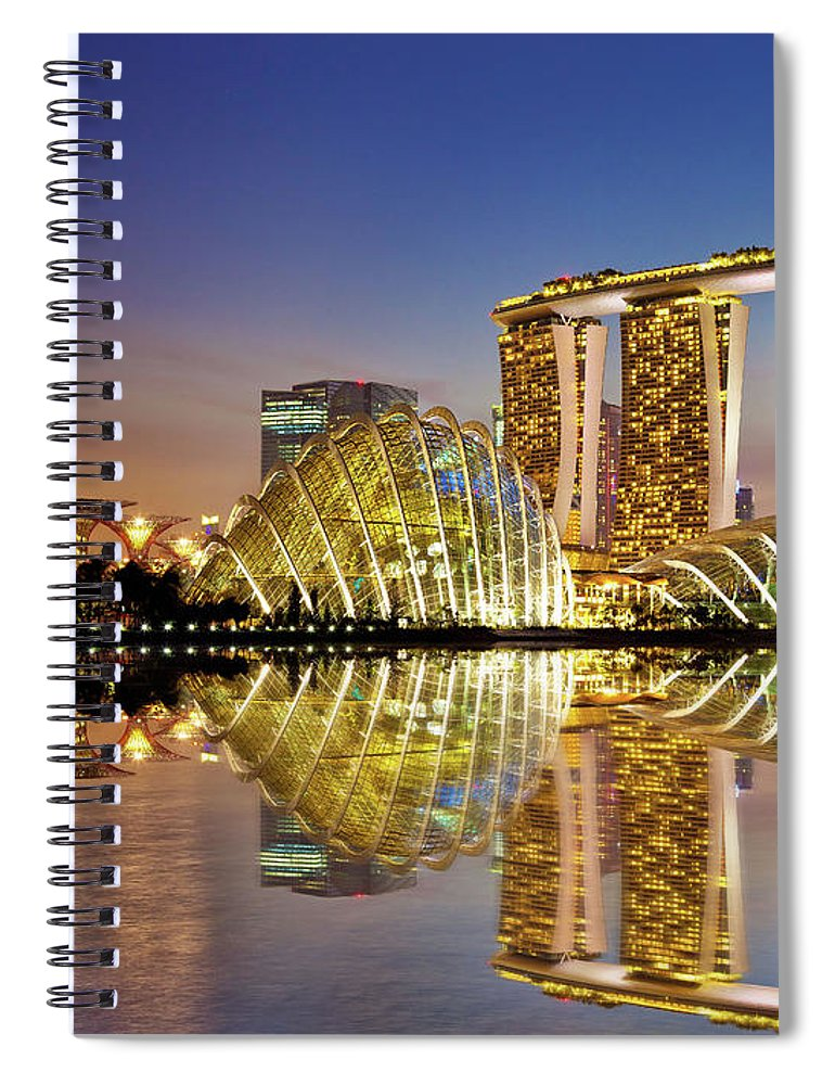 Outdoors Spiral Notebook featuring the photograph Gardens By Bay by Seng Chye Teo