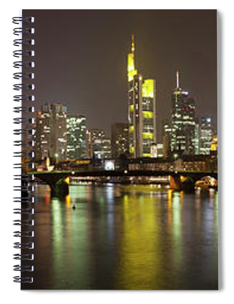 Panoramic Spiral Notebook featuring the photograph Germany, Frankfurt, View Of City At by Westend61