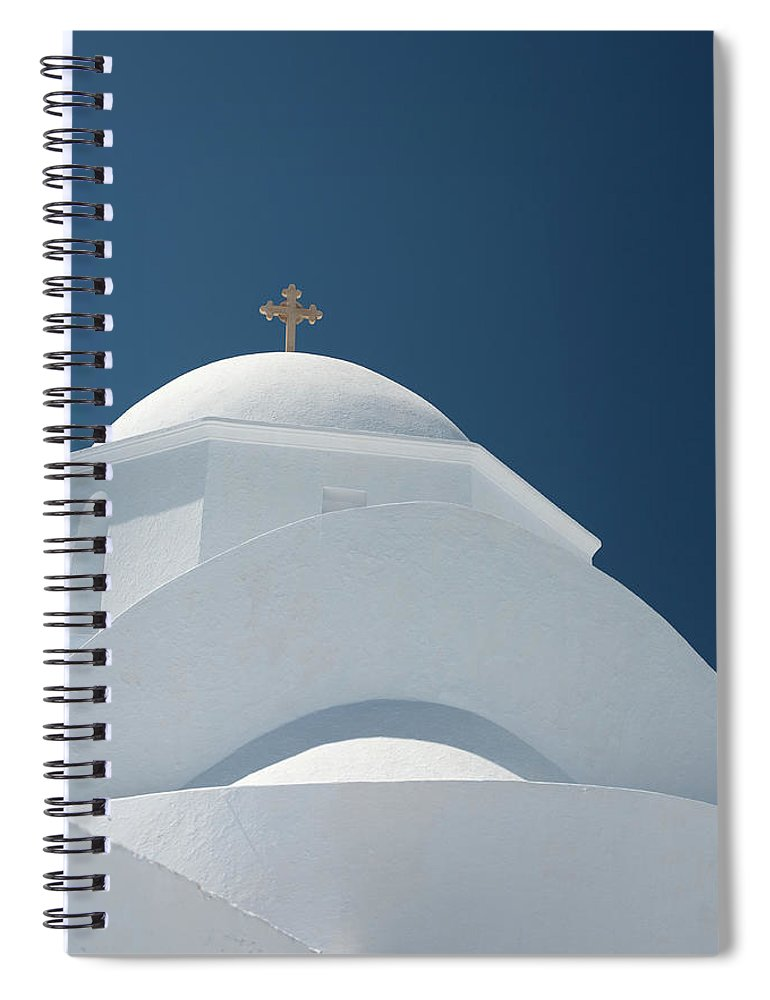 Greek Culture Spiral Notebook featuring the photograph Greek Chapel by Deimagine