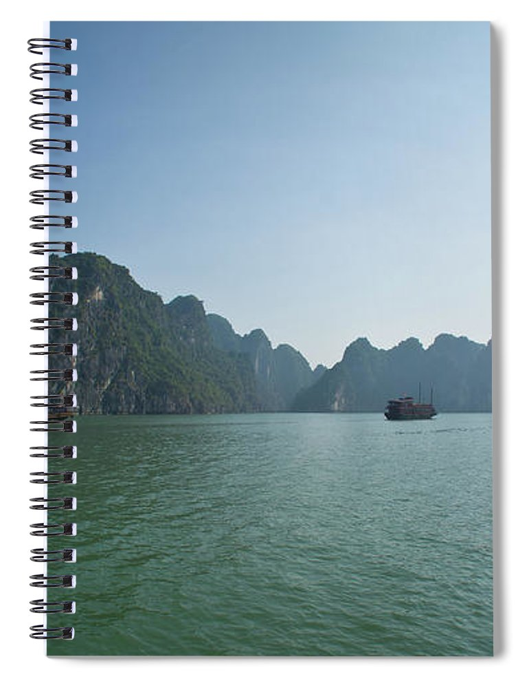 Scenics Spiral Notebook featuring the photograph Ha Long Bay by By Thomas Gasienica