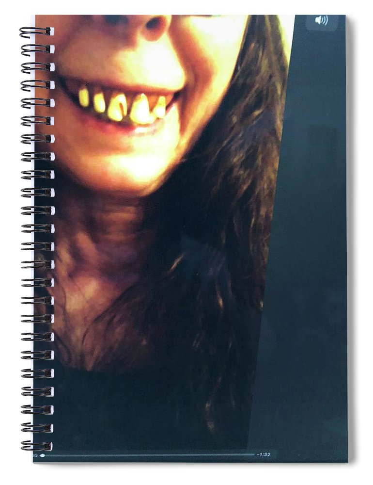 Monster Spiral Notebook featuring the photograph Halloween Witch by Laureen Sabella
