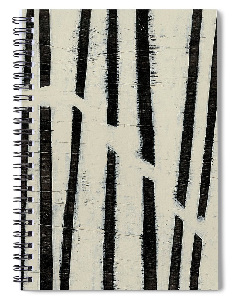 Abstract Spiral Notebook featuring the painting Hieroglyph Vi by June Erica Vess