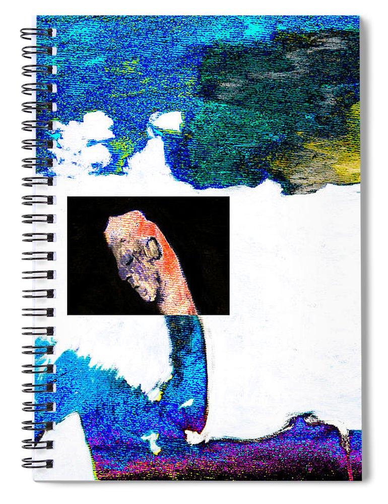 Horseman Spiral Notebook featuring the digital art Horseman by Artist Dot