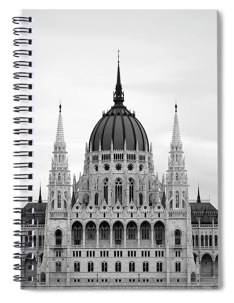 Hungarian Parliament Building Spiral Notebook featuring the photograph Hungarian Parliament Building by Alex Holland