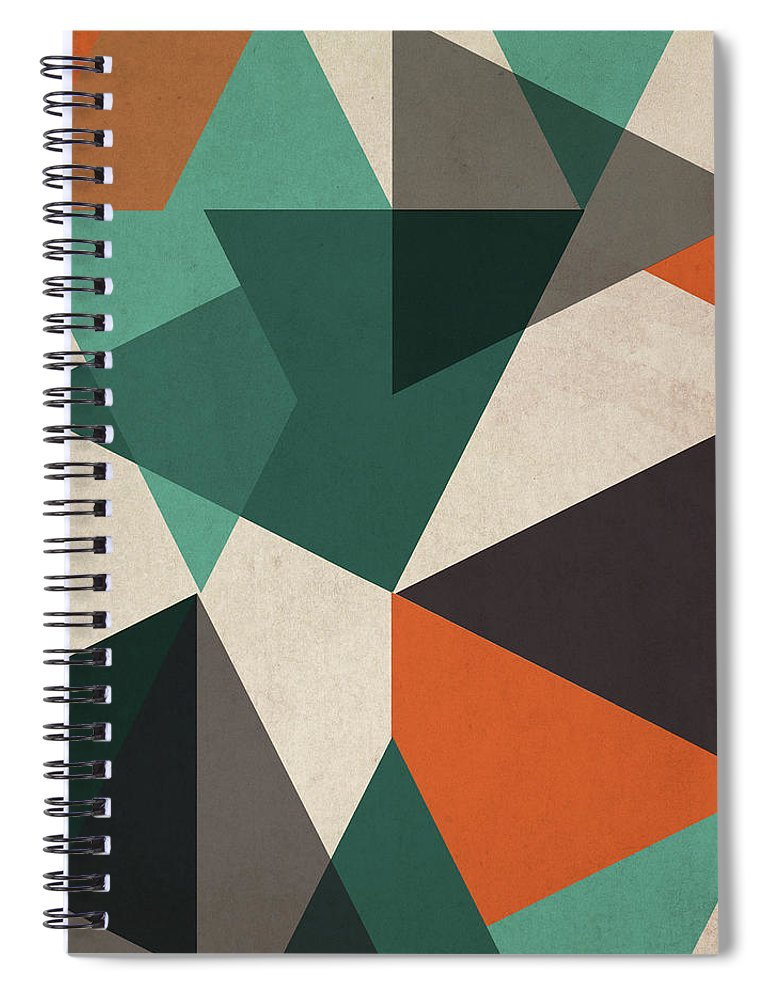 Abstract Spiral Notebook featuring the painting In Between II by June Erica Vess
