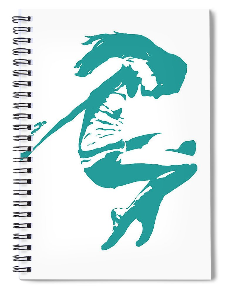 Figurative Spiral Notebook featuring the painting In Motion Ix by Ethan Harper