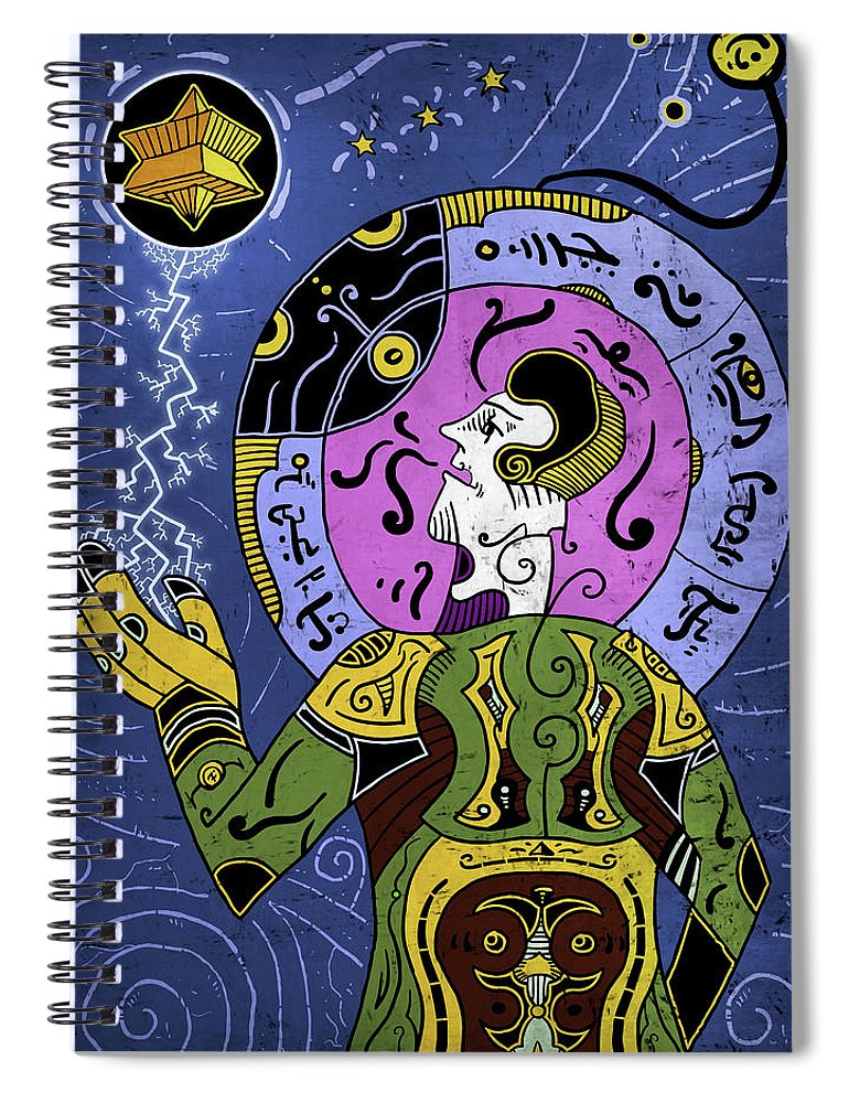 Philosopher Spiral Notebook featuring the digital art Incal by Sotuland Art