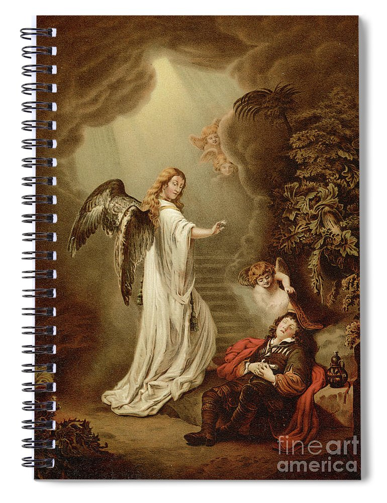 Jacob Spiral Notebook featuring the painting Jacobs Dream by Ferdinand Bol
