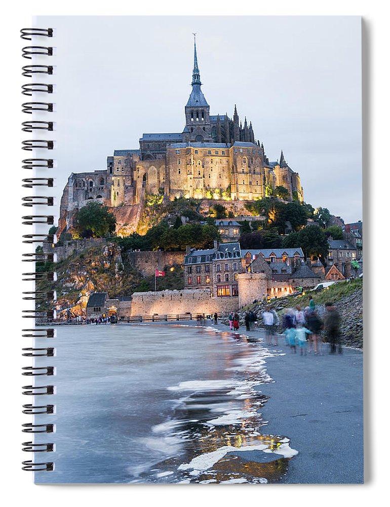 Mont Saint-michel Spiral Notebook featuring the photograph Le Mont Saint Michel, Normandy, France by John Harper