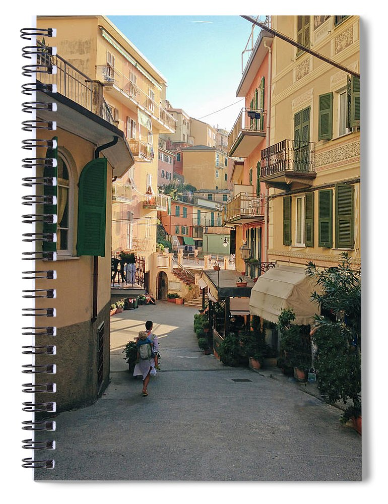 Toddler Spiral Notebook featuring the photograph Manarola Italy by M Swiet Productions
