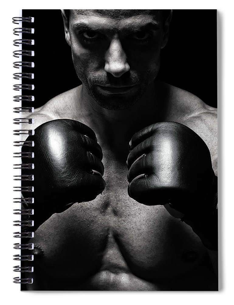 Toughness Spiral Notebook featuring the photograph Mma Fighter by Vuk8691