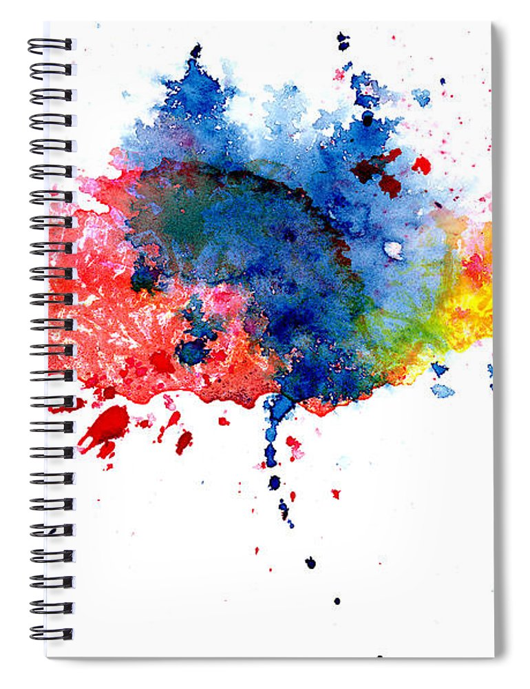 Watercolor Painting Spiral Notebook featuring the photograph Multicolored Splashes by Alenchi