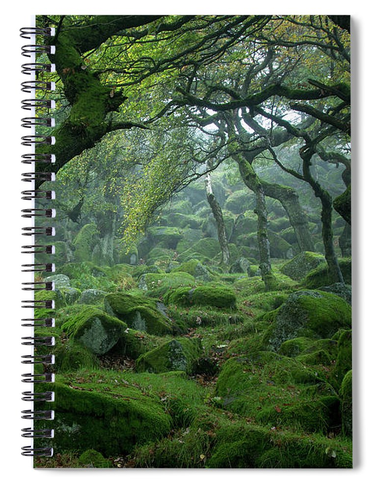 Tranquility Spiral Notebook featuring the photograph Padley Gorge by Duncan Fawkes
