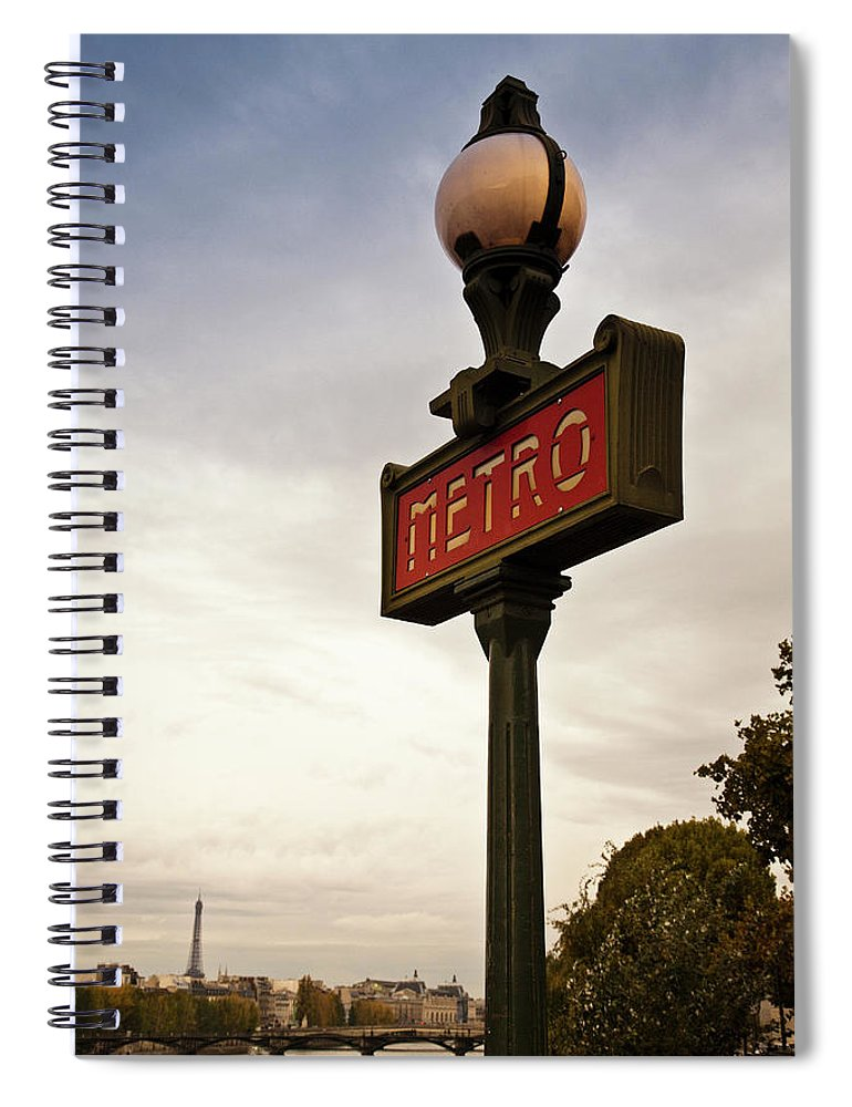 Outdoors Spiral Notebook featuring the photograph Paris, France by Buena Vista Images
