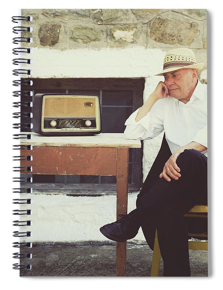 People Spiral Notebook featuring the photograph Portrait Of A Senior Man by Thanasis Zovoilis