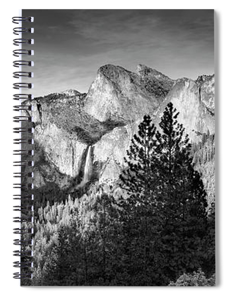 Scenics Spiral Notebook featuring the photograph Rocky Mountains Overlooking Rural by Chris Clor