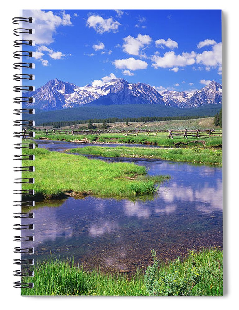 Scenics Spiral Notebook featuring the photograph Sawtooth Mountain Range, Idaho by Ron thomas