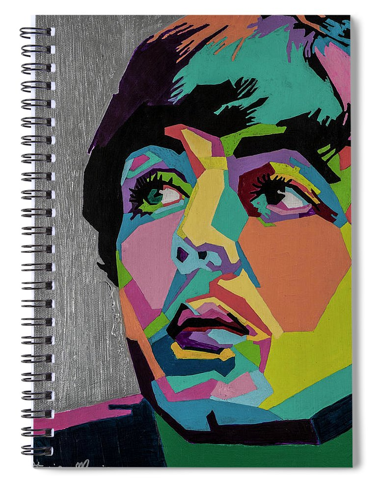 Paul Mccartney Spiral Notebook featuring the painting Sir Paul McCartney by Stacie Marie