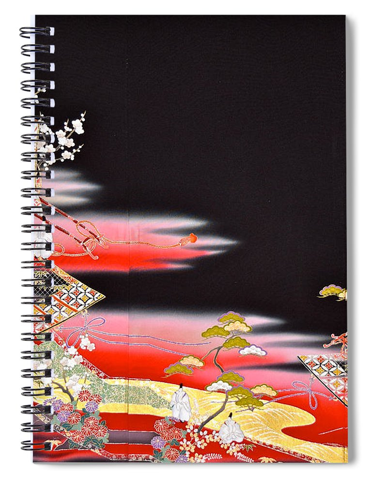 Spiral Notebook featuring the digital art Spirit of Japan T81 by Miho Kanamori