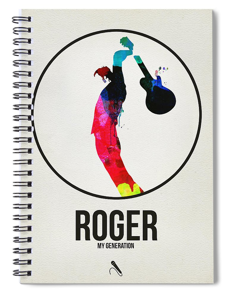 The Who Spiral Notebook featuring the digital art The Who by Naxart Studio