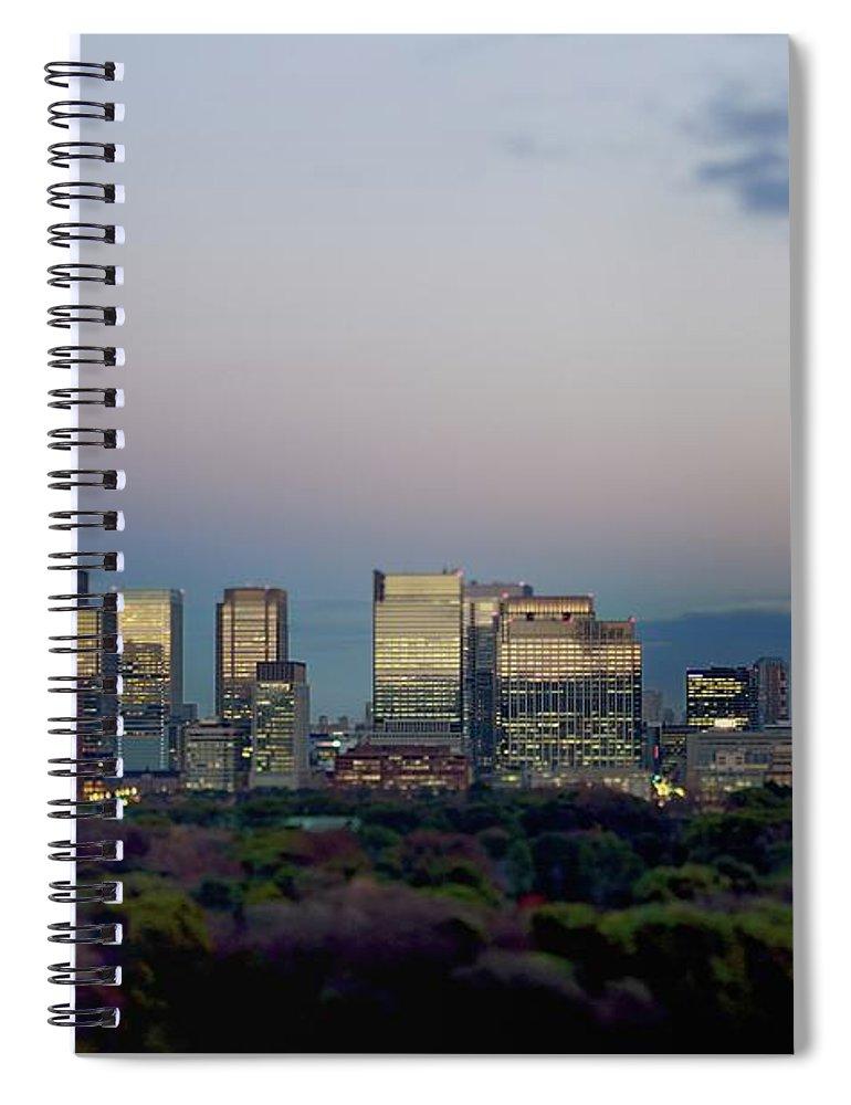 Financial District Spiral Notebook featuring the photograph Tokyo Marunouchi by Vladimir Zakharov