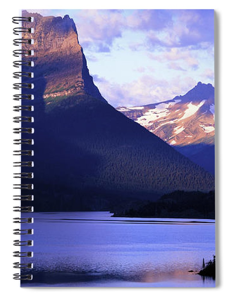 Scenics Spiral Notebook featuring the photograph Usa, Montana, Glacier Np, Mountains by Paul Souders