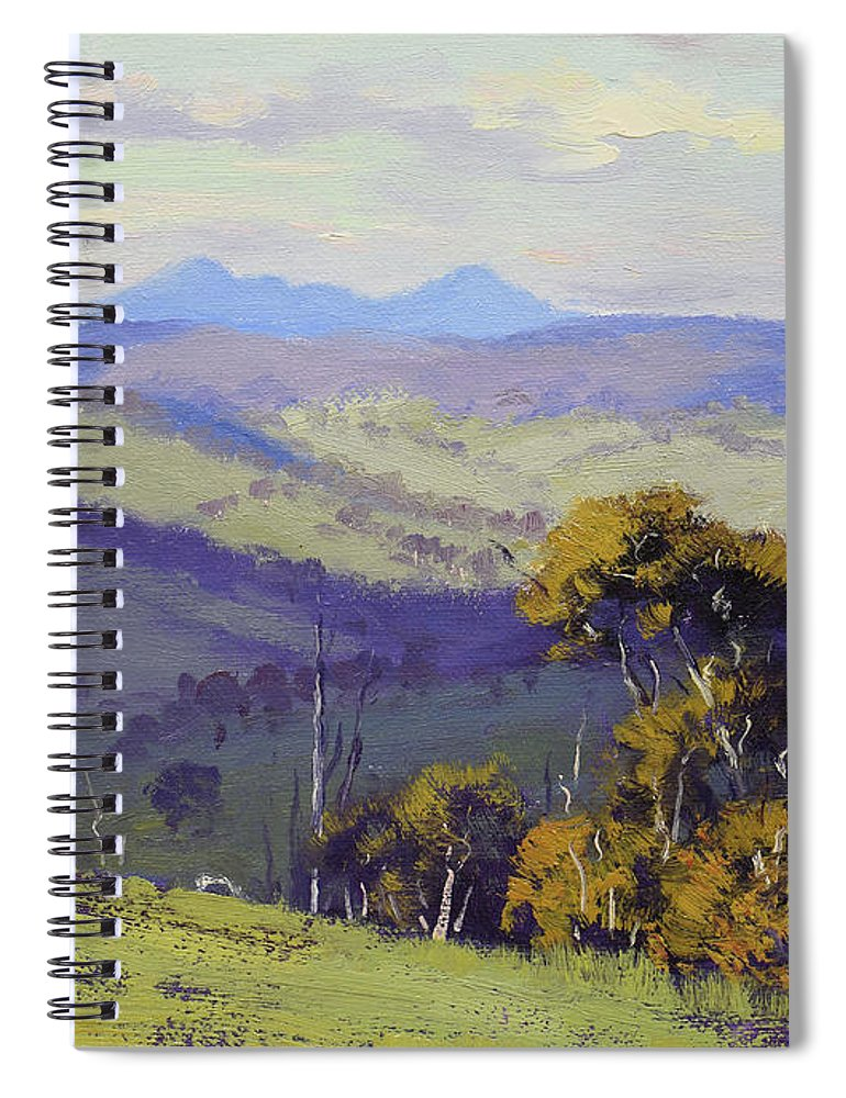 Landscape Paintings Spiral Notebook featuring the painting View To Kanimbla by Graham Gercken